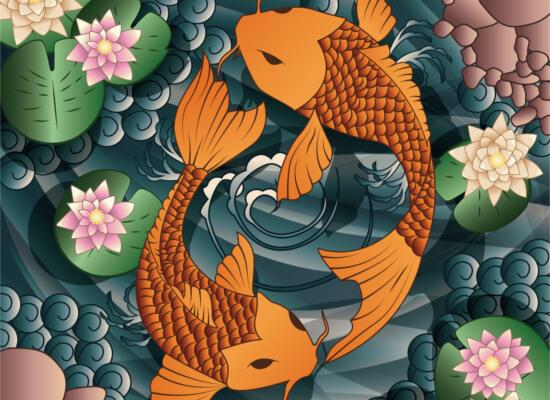 Tatuaż Ryby Koi