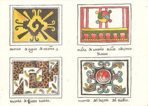 Karta z kodeksu magliabecchiano - Symbol hunab-ku