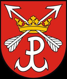 'Kotwica' symbol Polski Walczącej w herbie Łomianek