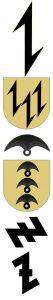 Różne rodzaje i odmiany znaku wolfsangel