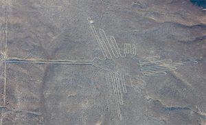 Rysunek kolibra - linie w nazca