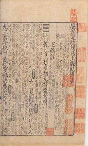 Strona ze starej księgi przemian