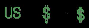 Ewolucja znaku dolara - skrót US