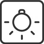 Oświetlenie piekarnika - znaczek