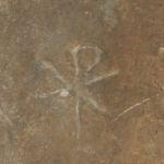 Symbol Chi Ro na ścianie w Rzymie
